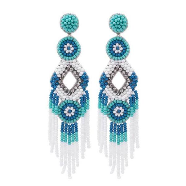 Deepa by Deepa Gurnani Handmade White Bridget Earrings