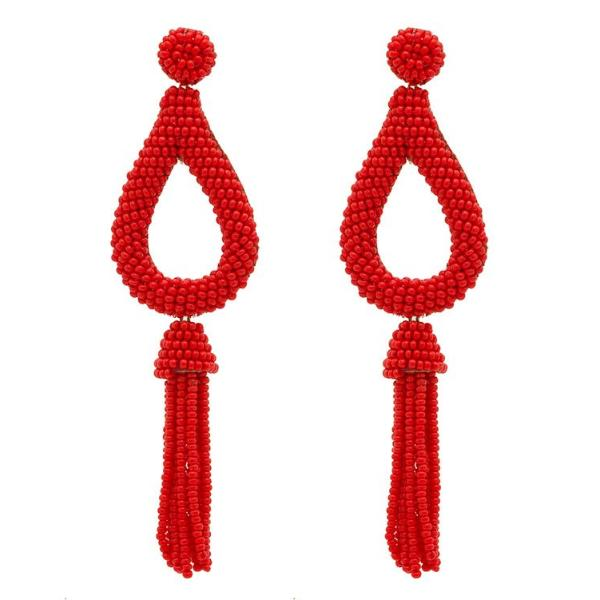 Deepa by Deepa Gurnani Handmade Red Jasmine Earrings