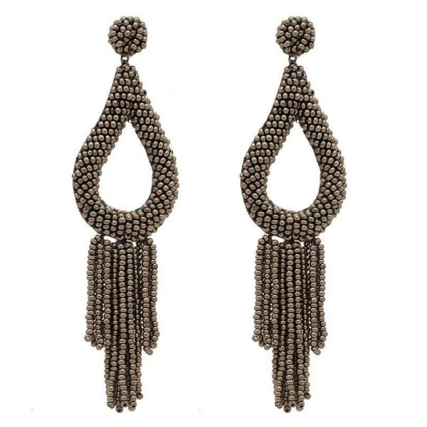 Deepa by Deepa Gurnani Handmade Stella Earrings in Gunmetal