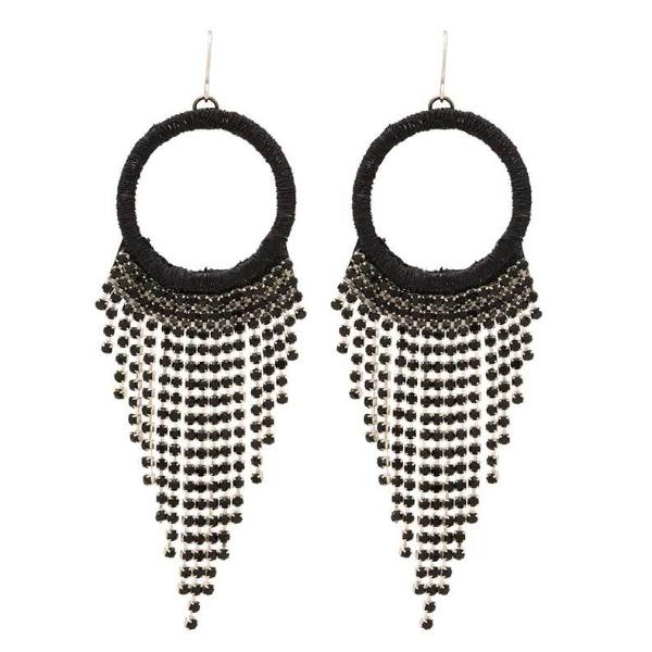 Deepa by Deepa Gurnani Handmade Alesandra Earrings in Black
