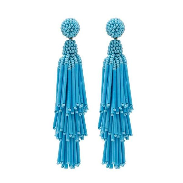 Deepa by Deepa Gurnani Handmade Turquoise Rain Earrings