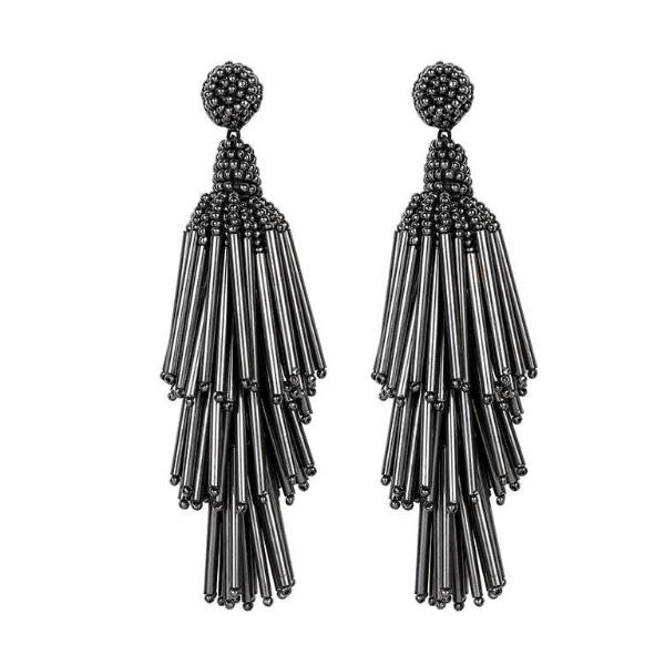 Deepa by Deepa Gurnani Handmade Gunmetal Color Rain Earrings