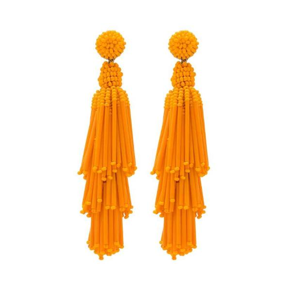 Deepa by Deepa Gurnani Handmade Orange Rain Earrings