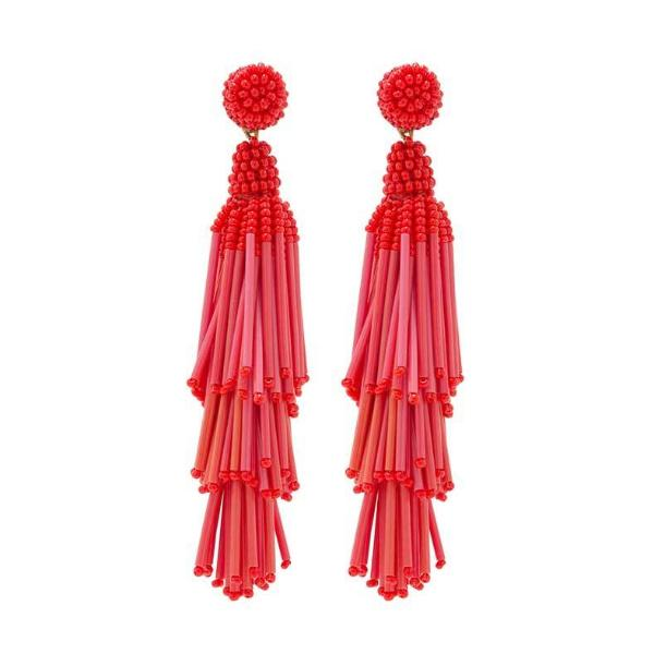 Deepa by Deepa Gurnani Handmade Red Rain Earrings