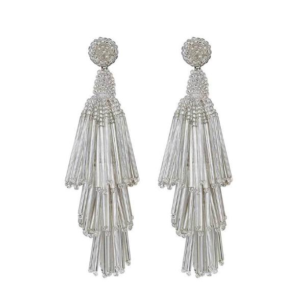 Deepa by Deepa Gurnani Handmade Silver Color Rain Earrings