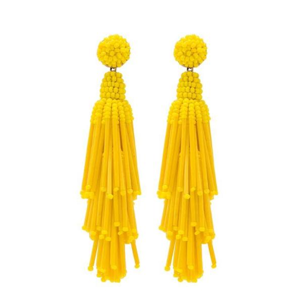 Deepa by Deepa Gurnani Handmade Yellow Rain Earrings