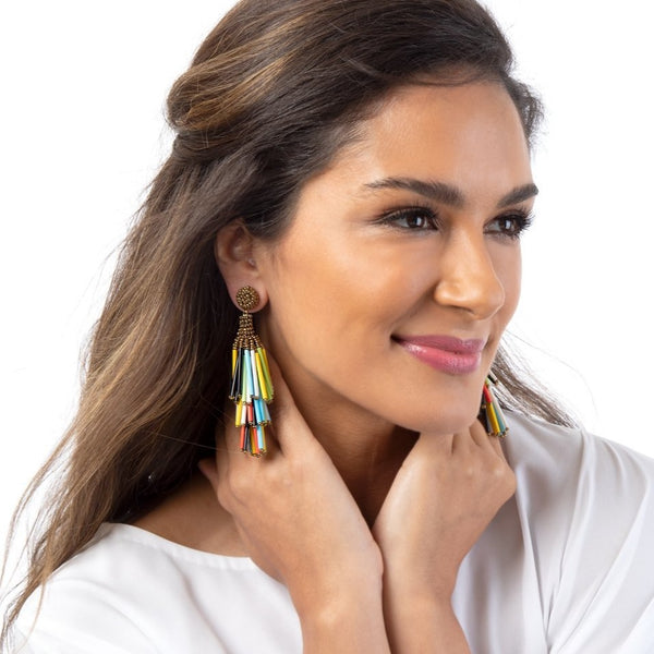 Flaunt your colors with our best selling Rain Earrings.