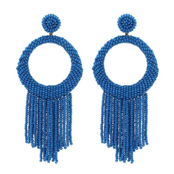 Deepa by Deepa Gurnani Handmade Blue Roberta Earrings