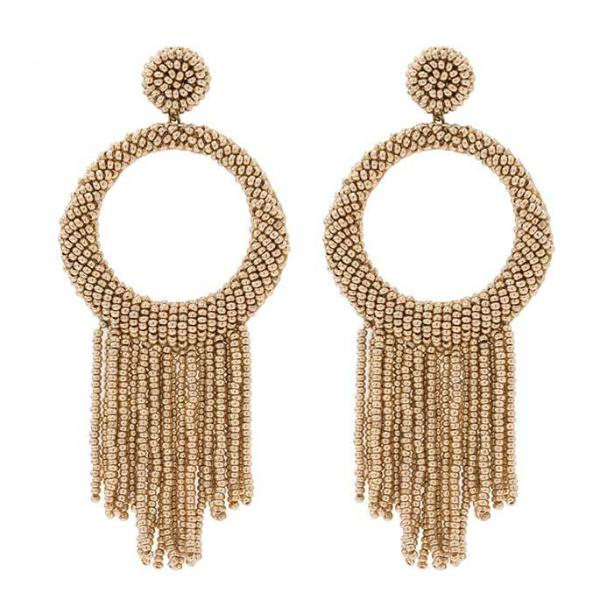 Deepa by Deepa Gurnani Handmade Gold Color Roberta Earrings