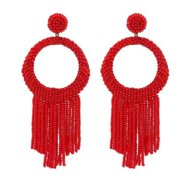 Deepa by Deepa Gurnani Handmade Red Roberta Earrings