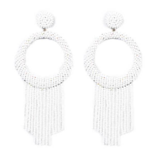 Deepa by Deepa Gurnani Handmade White Roberta Earrings