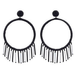 Deepa by Deepa Gurnani Handmade Chauncey Earrings in Black and White