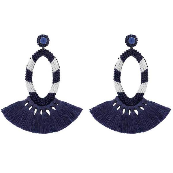 Deepa by Deepa Gurnani Handmade Klarissa Earrings in Cobalt