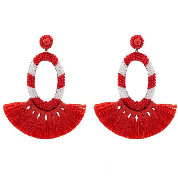Deepa by Deepa Gurnani Handmade Klarissa Earrings in Red