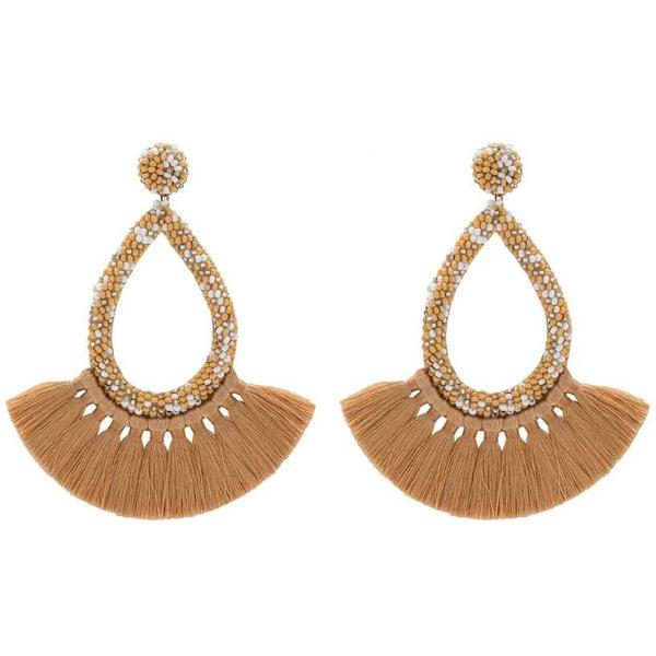 Deepa by Deepa Gurnani Handmade Cecilia Earrings in Coffee