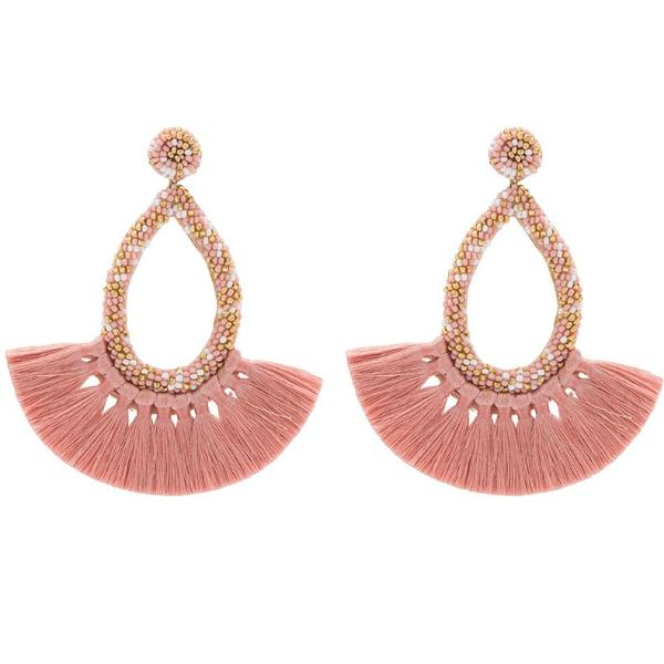 Deepa by Deepa Gurnani Handmade Cecilia Earrings in Pink