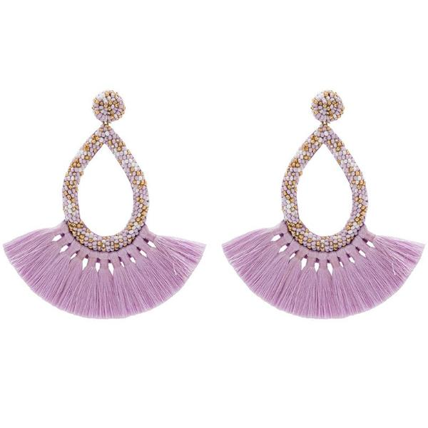 Deepa by Deepa Gurnani Handmade Cecilia Earrings in Lavender