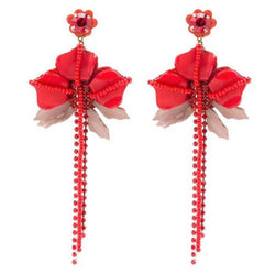 Deepa by Deepa Gurnani Handmade Red Belinda Earrings