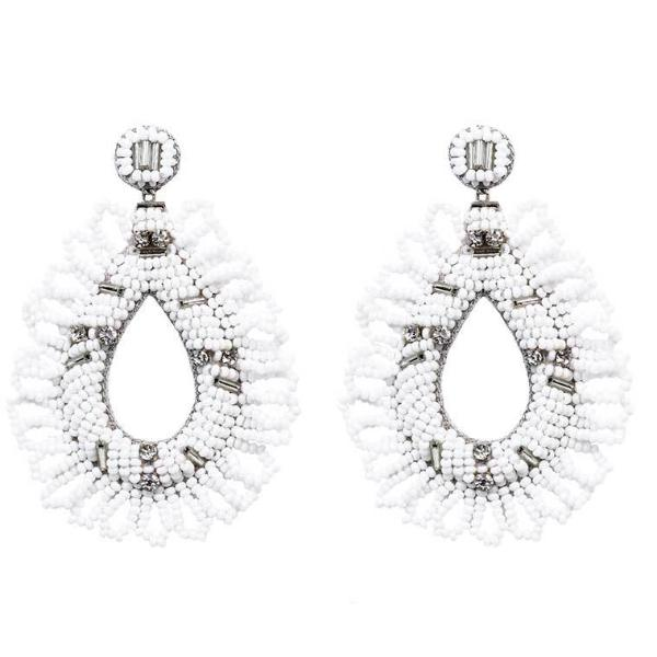 Deepa by Deepa Gurnani Handmade Mollie Earrings in White