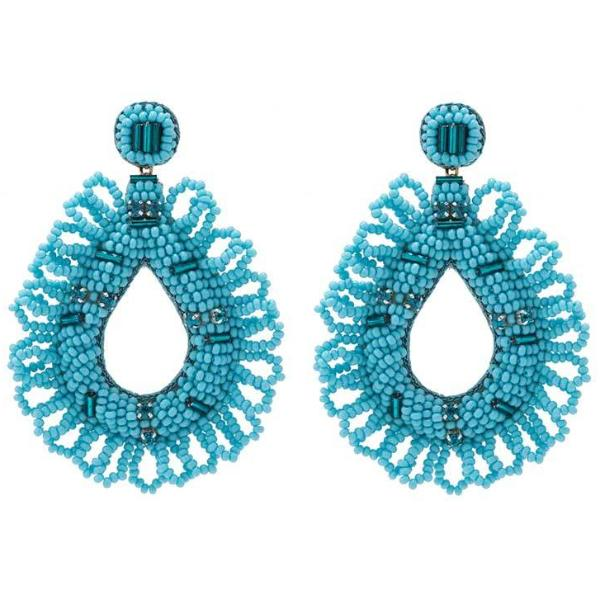 Deepa by Deepa Gurnani Handmade Mollie Earrings in Turquoise