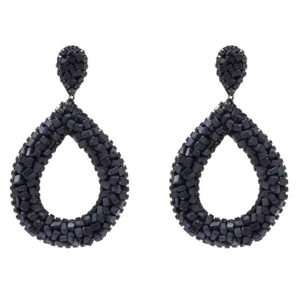 Deepa by Deepa Gurnani Handmade Anne Earrings in Black