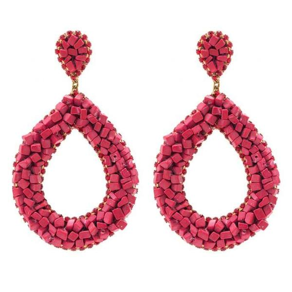 Deepa by Deepa Gurnani Handmade Anne Earrings in Red