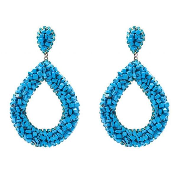 Deepa by Deepa Gurnani Handmade Anne Earrings in Turquoise