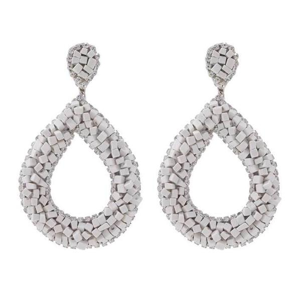 Deepa by Deepa Gurnani Handmade Anne Earrings in White