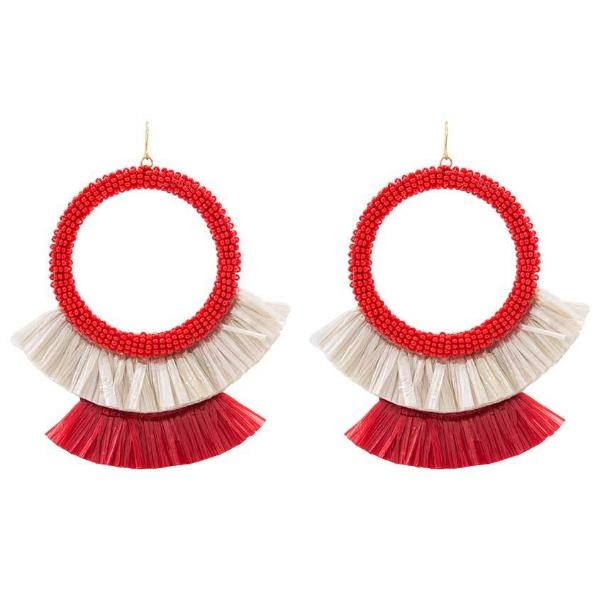 Deepa by Deepa Gurnani Handmade Red Petal Earrings