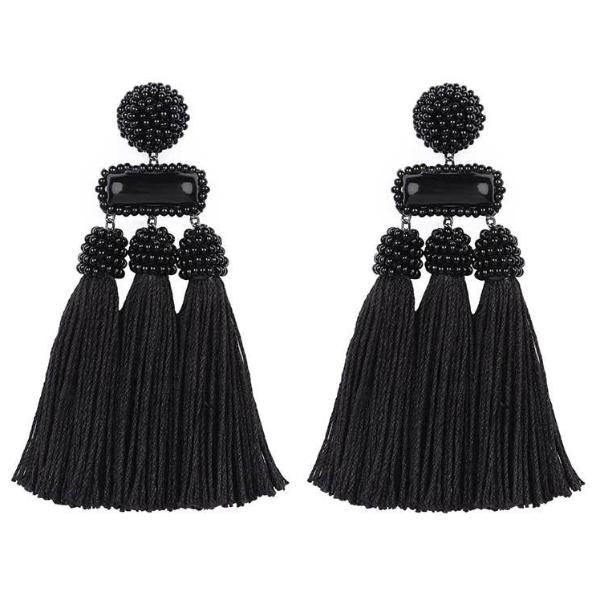 Deepa by Deepa Gurnani Handmade Black Maeve Earrings