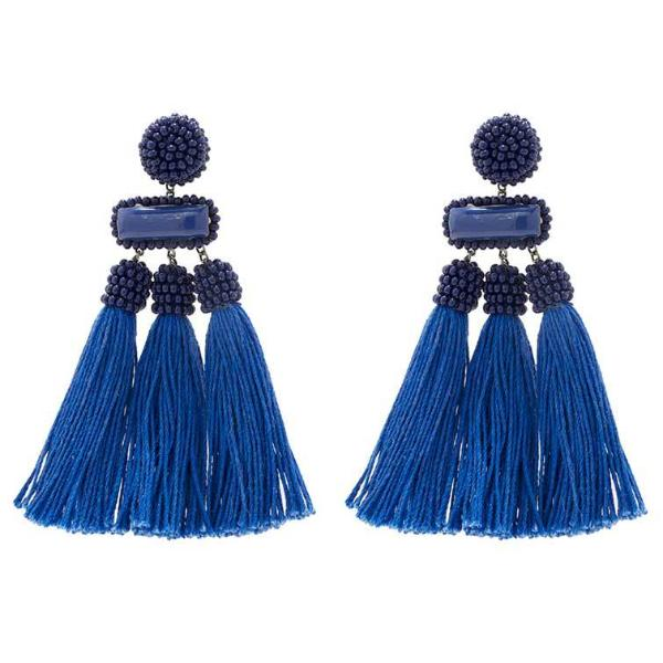 Deepa by Deepa Gurnani Handmade Cobalt Color Maeve Earrings