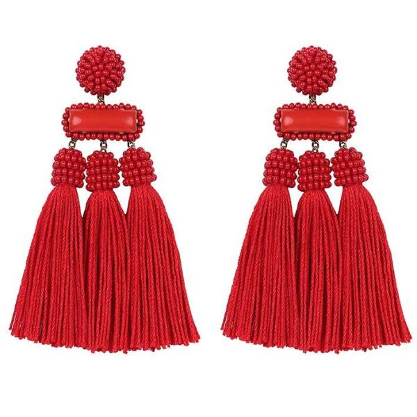 Deepa by Deepa Gurnani Handmade Red Maeve Earrings