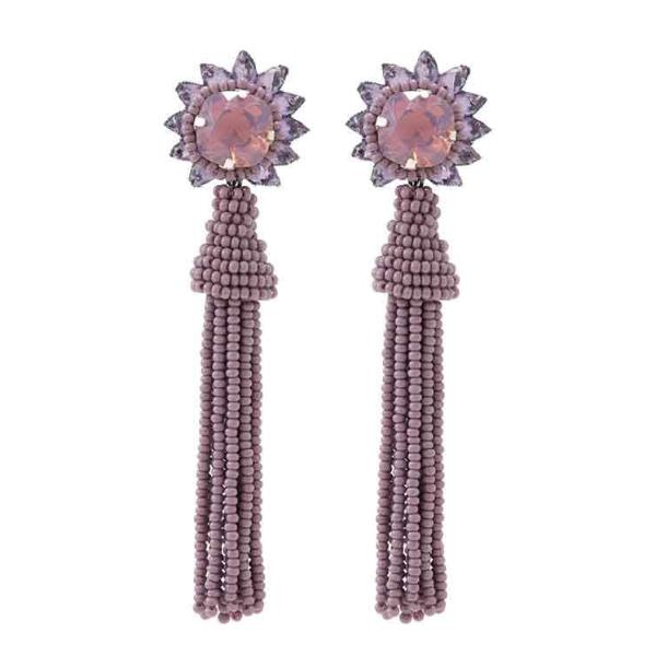 Deepa by Deepa Gurnani Handmade Giovanna Earrings in Lavender