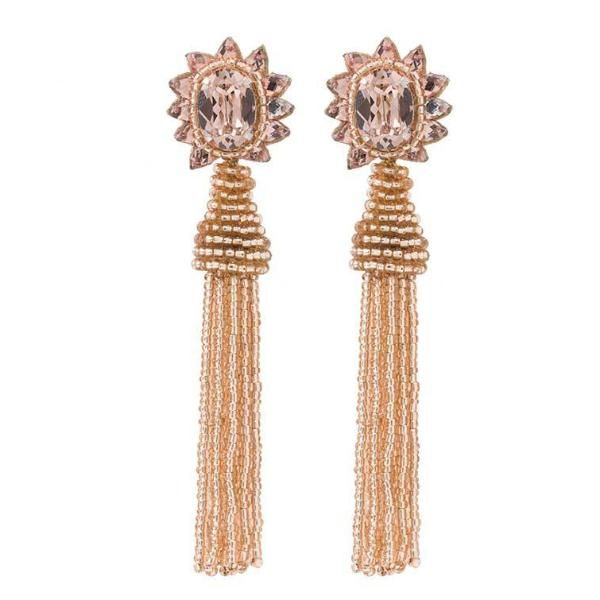 Deepa by Deepa Gurnani Handmade Giovanna Earrings in Rose Gold
