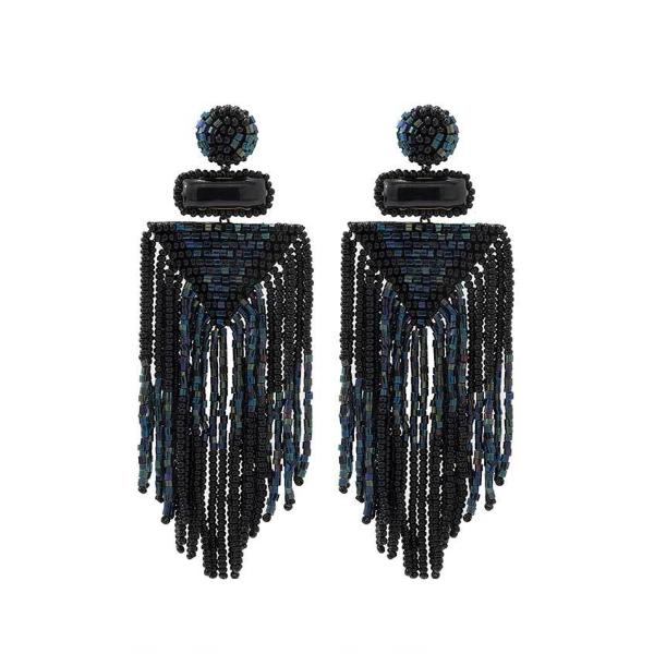 Deepa by Deepa Gurnani Black Jody Earrings
