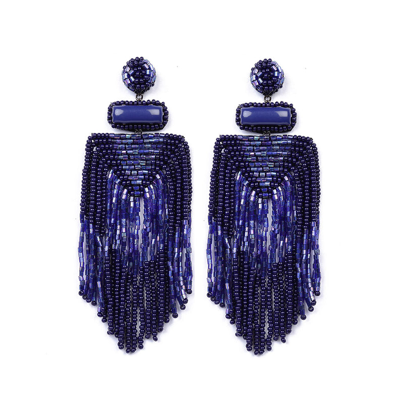Deepa by Deepa Gurnani Lightweight Jody Earrings in Cobalt