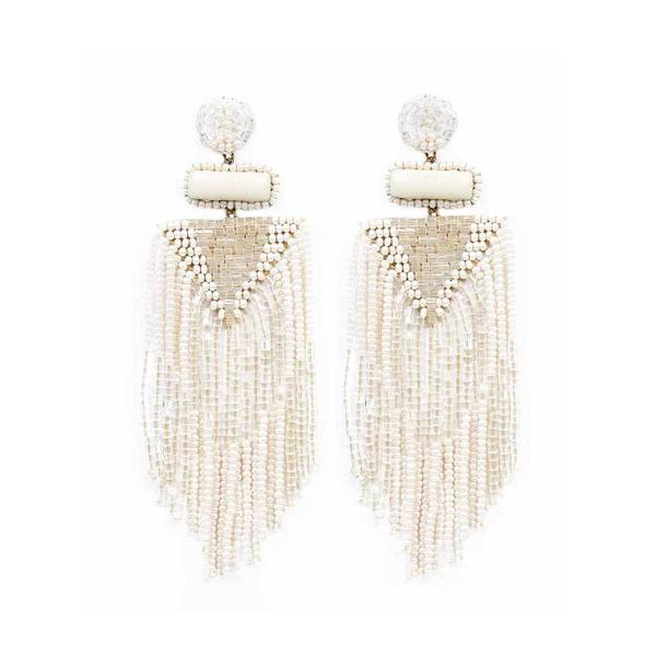 Deepa by Deepa Gurnani White Jody Earrings