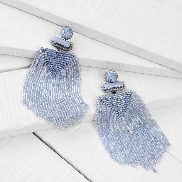Deepa by Deepa Gurnani Powder Blue Jody Earrings