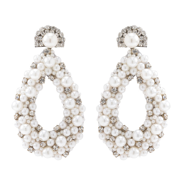 Deepa by Deepa Gurnani Handmade Ivory Arabella Earrings