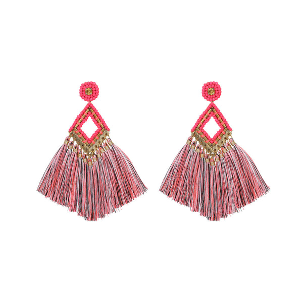Deepa by Deepa Gurnani Lotus Earrings Fluorescent Pink