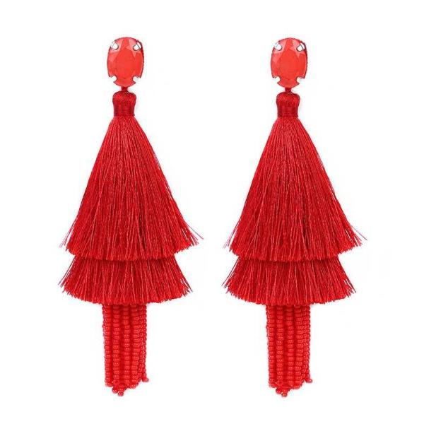 Deepa by Deepa Gurnani Handmade Jada Earrings in Red