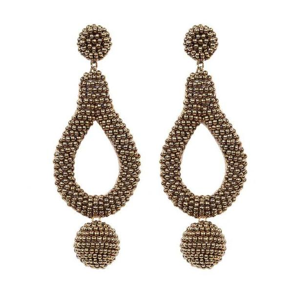 Deepa by Deepa Gurnani Handmade Hanna Earrings in Gold