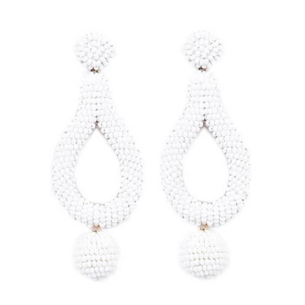 Deepa by Deepa Gurnani Handmade Hanna Earrings in White