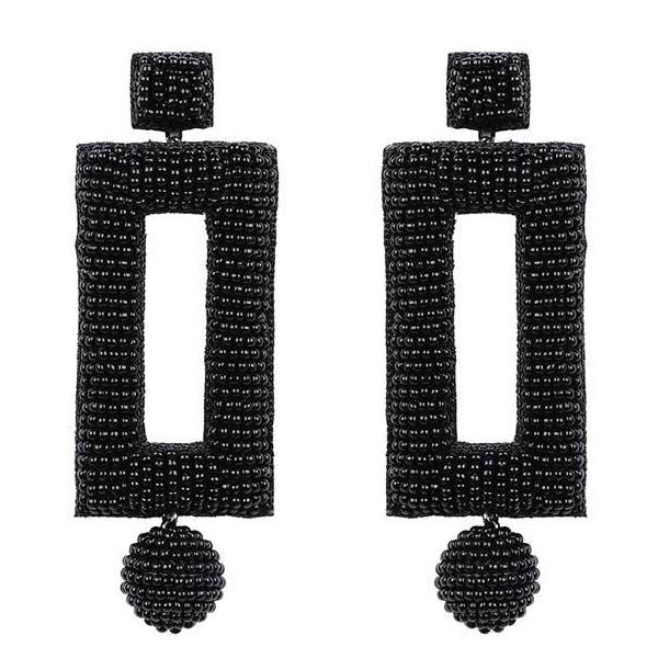 Deepa by Deepa Gurnani Handmade Kassy Earrings in Black