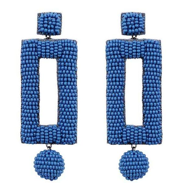 Deepa by Deepa Gurnani Handmade Kassy Earrings in Blue