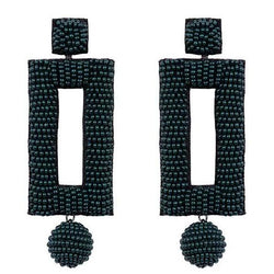 Deepa by Deepa Gurnani Handmade Kassy Earrings in Hunter