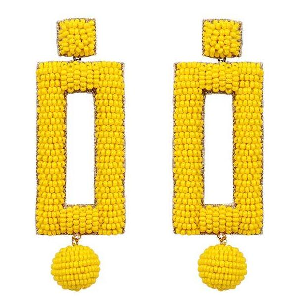 Deepa by Deepa Gurnani Handmade Kassy Earrings in Yellow