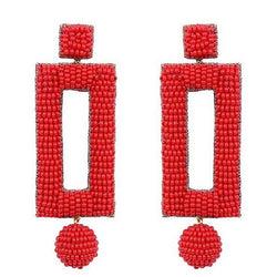 Deepa by Deepa Gurnani Handmade Kassy Earrings in Red