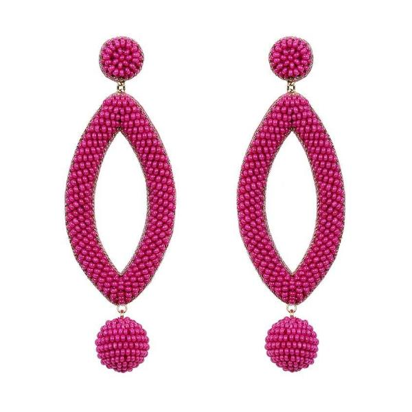 Deepa by Deepa Gurnani Handmade Fuchsia Lee Earrings