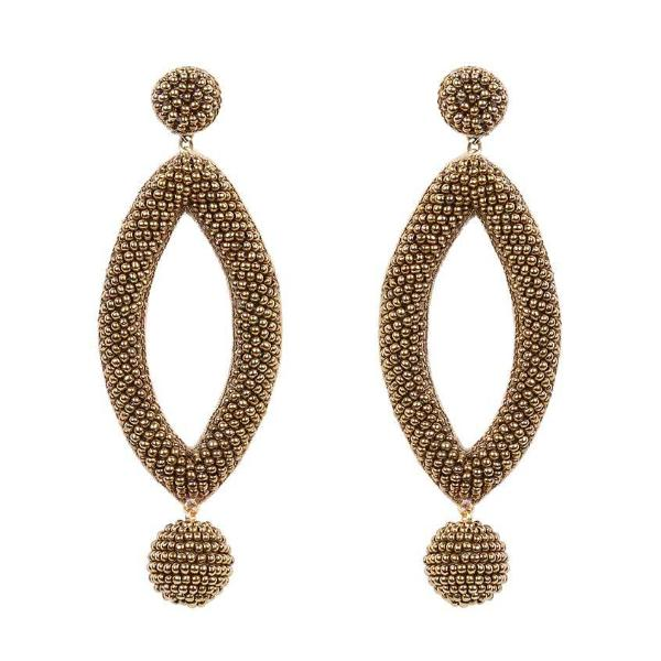 Deepa by Deepa Gurnani Handmade Gold Color Lee Earrings
